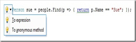 The same code as inline statement.