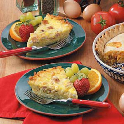 Potato-Crust Chicken Quiche