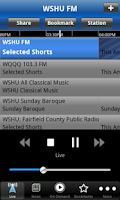 Screenshot of WSHU Public Radio App
