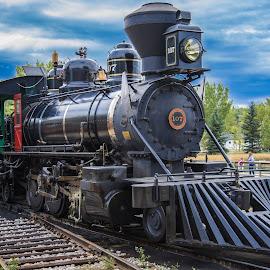 Train 107 by Jun Sigue - Transportation Trains ( rails, railway, vintage, transport, railroad, rail, train, transportation,  )