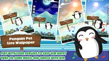 Screenshot of Penguin Pet Live Wallpaper