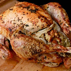 Easy Herb-Rubbed Roast Turkey With Stuffing and Giblet Gravy