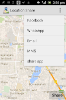 Screenshot of Location Share