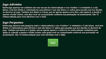 Screenshot of Futebol Quiz e Uniformes