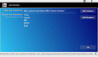 Screenshot of Wheel Of Decision