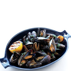 Grilled Mussels with Herb Butter