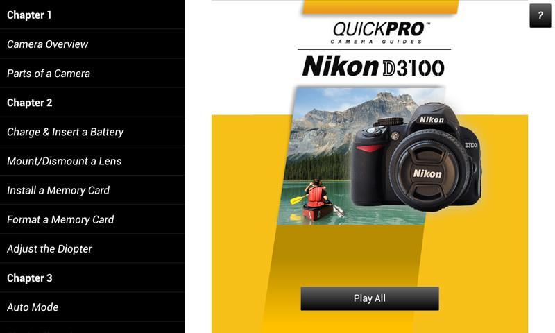Download Nikon D3100 PDF Manual User Guide