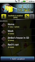 Screenshot of GeoNote