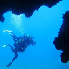 Dikeymagaralar / Vertical caves(Sigacik ) by Yildirim Gencoglu - Landscapes Underwater ( underwaterphotography, scuba )