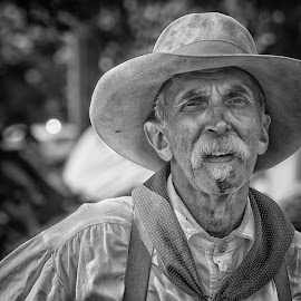 by Dez Green - People Portraits of Men ( frontiersman, cowboy, monochrome, pioneer, portrait )