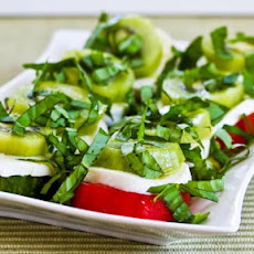 Caprese Salad with Red and Green Tomatoes and Kiwifruit