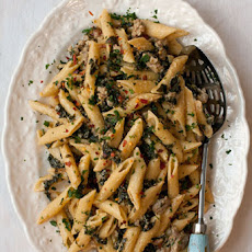 Kale and Sausage Penne with Lemon Cream Sauce