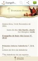 Screenshot of Evangelho Diário