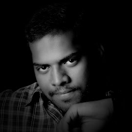 Black and White by செல்வரங்கன் முருகன் - People Portraits of Men ( black and white, white, people, black, portrait )