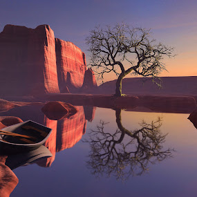 Lake Sunset  (illustrated 3D) by Jamie Keith - Illustration Places (  )