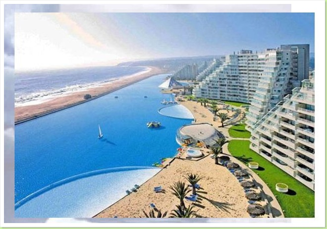 World 39 s largest pool off the coast of chile go sell crazy somewhere else for Largest swimming pool in the world chile