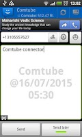 Screenshot of WebSMS: Comtube connector