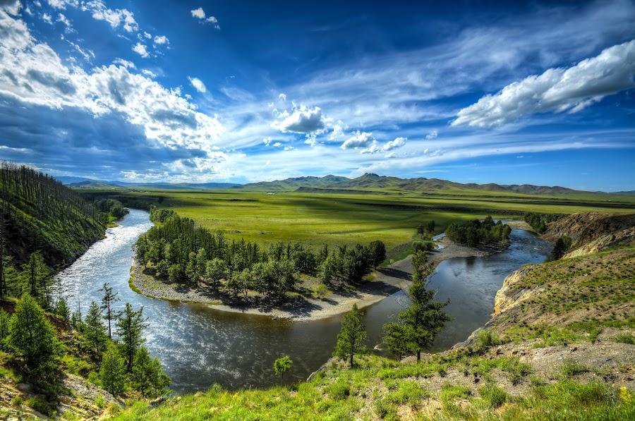 Orkhon river Mongolia by Borjigon Bayasal - Landscapes Mountains & Hills