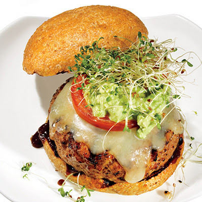 Avocado-Alfalfa Turkey Burger