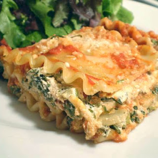 Lighter Spinach Lasagna