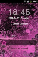 Screenshot of GO Locker Theme Pink Dark