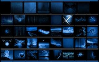 Screenshot of Serenity Launcher Theme Blue