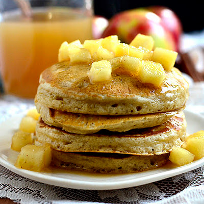 Apple Cider Pancakes with Maple Cider Syrup