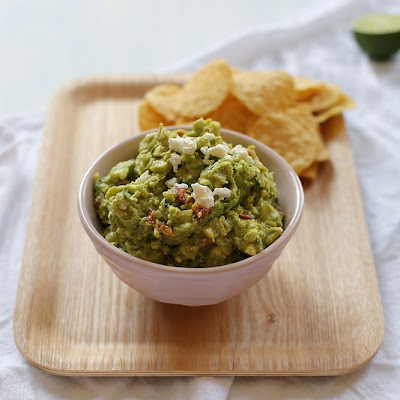 Roasted Tomato and Geta Guacamole