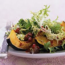 Roasted Squash, Chestnut, and Chicory Salad with Cranberry Vinaigrette