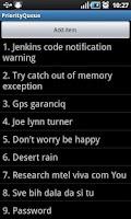 Screenshot of Quick List