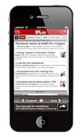 Screenshot of Sverige Tidningar