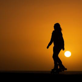 Rolling sunset by Yuval Shlomo - Sports & Fitness Fitness