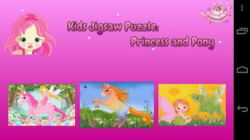 Screenshot of Kids Puzzle Princess Lite
