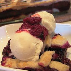 Book Club Blackberry Cobbler