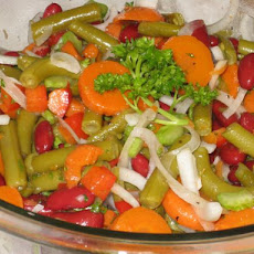 My Mother's Bean and Carrot Salad