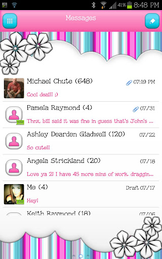 GO SMS - Beauty Stripes 2
