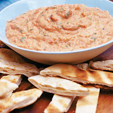 Red pepper, aubergine and coriander BBQ dip