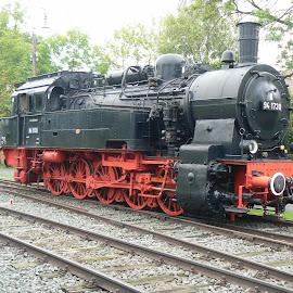 Class BR94 at Nordlingen by John Edge - Transportation Trains ( kpev, db, 94, german, t16, steam )