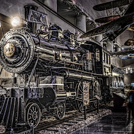 999 by Chris Thomas - Transportation Trains ( lights, indoor, hdr, clarity, train, chicago, museum,  )