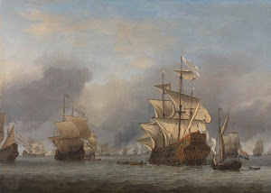 RIJKS: Willem van de Velde (II): The Capture of the Royal Prince 1670