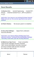 Screenshot of Secure Update Scanner