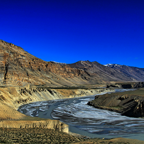 Landscape by Debajit Bose - Landscapes Mountains & Hills ( water, leh, skyline, mountain, nature, stone, india, ladakh, landscape )