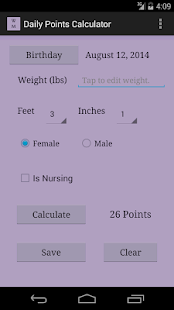 Weight Management Calculators - screenshot