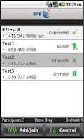 Screenshot of BT MeetMe Mobile Controller