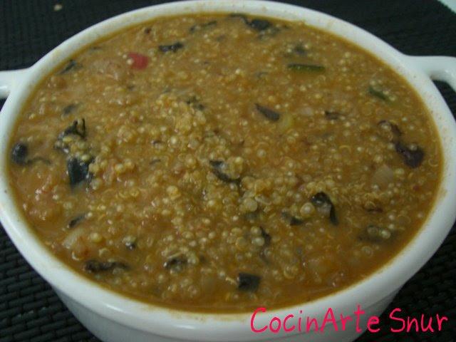 Cocinarte quinotto de setas y gambas o risotto de quinoa for Como cocinar risotto