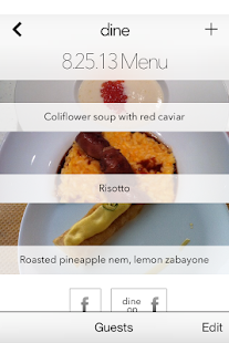 Dine - your culinary diary - screenshot