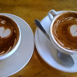 For Two Please  by Kamila Romanowska - Instagram & Mobile Other ( love, heart, pair, coffee, drink, australia, hot, sydney )
