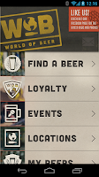 Screenshot of World of Beer Mobile