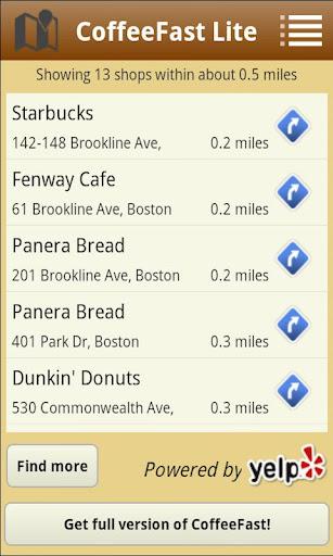 【免費旅遊App】CoffeeFast Lite-APP點子