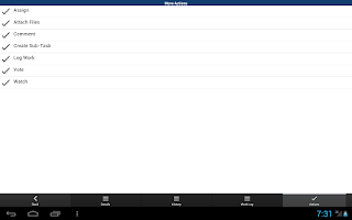 Screenshot of JIRA Issue Tracker